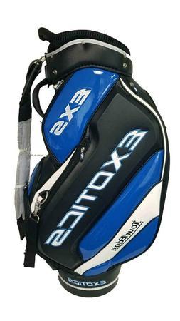 "Tour Edge Exotics EXS Golf 9.5"" Staff Bag - Blue/Black w/ Ra"