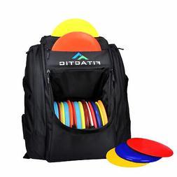 FITACTIC Luxury Frisbee Disc Golf Bag Backpack - Black