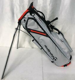 TaylorMade FlexTech Lite Stand Bag - Silver Blood Orange - N