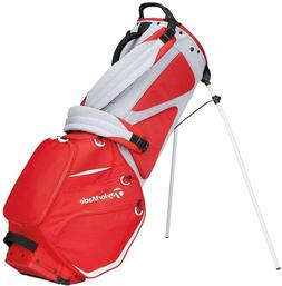 TaylorMade FlexTech 2020 Red/Grey Yarn Dyed Golf Stand Bag w