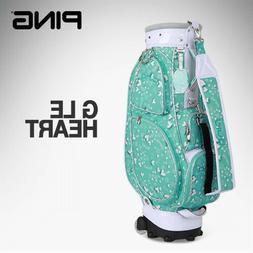 G LE HEART Women's Slim Sports Golf Caddy Bag Mint/White Co