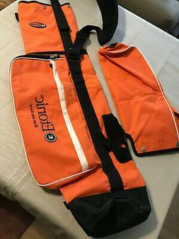 Etonic G Sok Sunday Golf Bag Orange & White Includes Rain Co