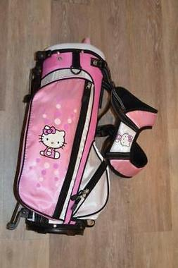 Hello Kitty Girls 3-5 Pink Golf Stand Carry Bag