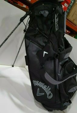 Callaway Golf 2018 Chev Stand Bag, Black/ Titanium/ White