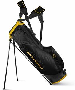 Sun Mountain Golf 2019 2.5+ Stand Bag Steel/Yellow 4-Way Div