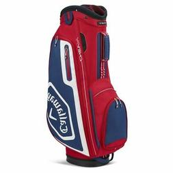 Callaway Golf 2020 Chev 14 Cart Bag-Red-Navy-White