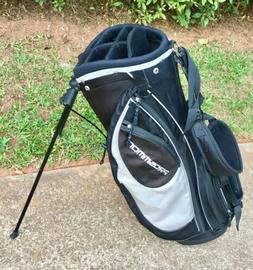 "Prosimmon Golf 7-division Golf Bag, Black. 36""H. Pre-owned"