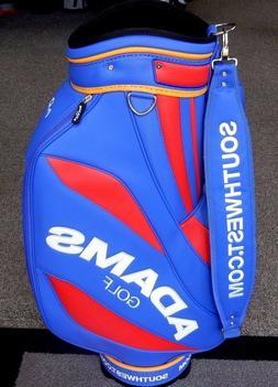"NEW Adams Golf 9.5"" Staff Cart Bag 6-Way Divider Blue/Red/Ye"