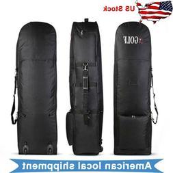 Golf Air Travel Cover Bags Wheels Protect Bag Stand Zipper W
