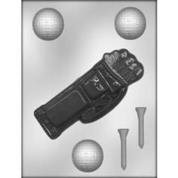 Golf Bag & Golf Balls Chocolate Candy Mold Sport