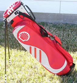 ADIDAS GOLF Bag Lightweight Adj Stand Lg Shell Logo Red Whit