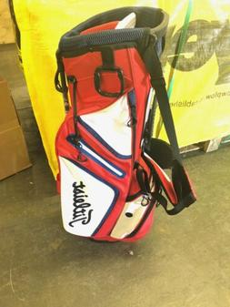 Titleist Golf Bag NWT Red White Navy Ultra Lightweight 3 Hol