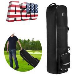 TOMSHOO Golf Bag Smooth Rolling Golf Travel Bag Cover Case C