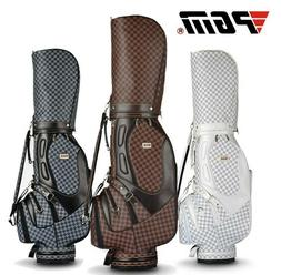 Golf bag standard bag plaid PU ball bag British style golf e