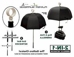 Golf Bag Umbrella and Retriever by Player Supreme