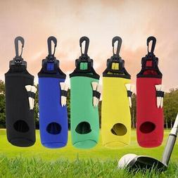 Golf Ball Bag Holder Clip Waterproof Pouch Sports Golfing Ac