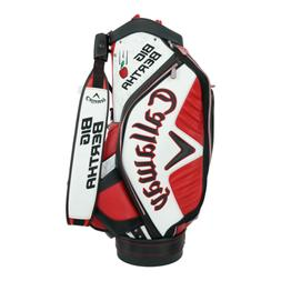 "Callaway Golf Big Bertha Staff Bag 9.5"" Brice Garnett Red/Wh"