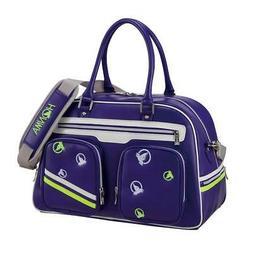 HONMA Golf Boston Bag Moles Stripe Women's Boston Bag Purple