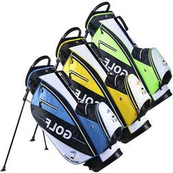 Golf Carry Cart Bag 14-Way Dividers Stand Set Kit with Rain
