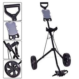 Tangkula Golf Cart Foldable 2 Wheel Push Pull Cart Trolley L