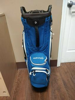 Taylormade Golf Cart Lite Bag 14 Dividers w Raincover Blue/B