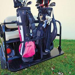 Golf Cart REAR SEAT GOLF BAG HOLDER RACK Holds 2 Club Bags N