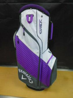 Callaway Golf Chev Cart Bag 14 Way Top NEW Gray/White/Purple