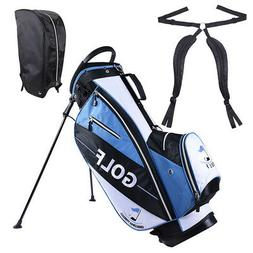 Men's New Golf Club Bag with 14-way Top Metal Stand 7 Pocket