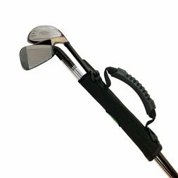Extra Caddy Golf Club Holder | Velcro Strap Carry Handle | S