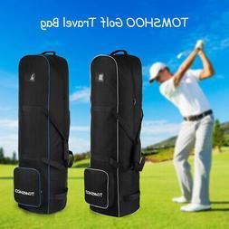 TOMSHOO Golf Travel Bag Waterproof Smooth Rolling Cover Case