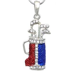 Soulbreezecollection Golf Clubs Bag Sports Pendant Necklace