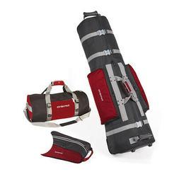 Samsonite Golf Deluxe 3 Piece Travel Set w/Cover, Shoe Bag &