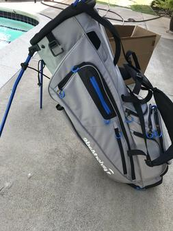 TaylorMade Golf FlexTech Stand Bag - Gray / Blue 5-way