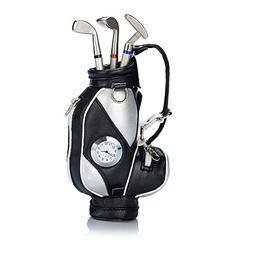 Seadream Golf Gift Set,Desktop Golf Bag Pens Holder with Clo