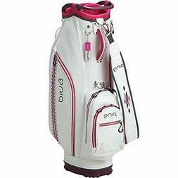 PING Golf Ladies Cart Caddy Bag 9 x 46 inch 2.7kg White Pink