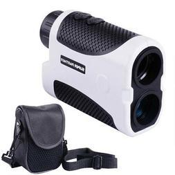 Golf Laser Range Finder 6x 25mm 1000 Yards White w/ Bag 2760