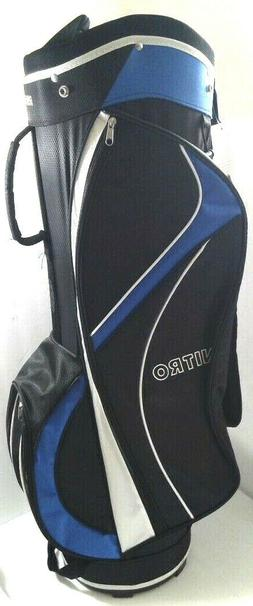 New~Nitro Golf Pro Golf Cart Bag Royal Blue & Black with Cov