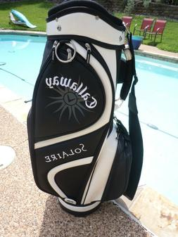 Callaway Golf SOLAIRE Cart Bag - BLACK/WHITE MINT!