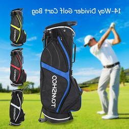 Golf Stand Bag Cart Bag 14 Way Full Length Individual Divide