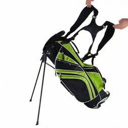 Golf Stand Cart Bag Club w/6 Way Divider Carry Organizer Poc