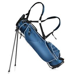 Golf Stand Cart Bag Club w/4 Way Divider Carry Organizer Poc
