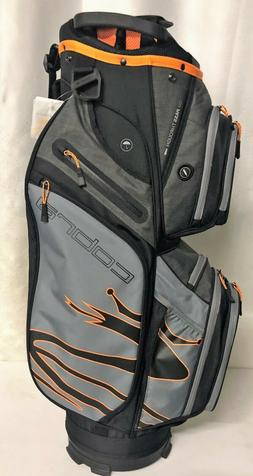 Cobra Golf Ultralight Cart Bag - Black Gray Orange - New wit