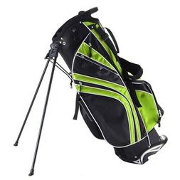 Green Golf Stand Cart Bag Club w/6 Way Divider Carry Organiz