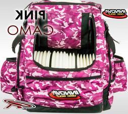 INNOVA HEROPACK DISC GOLF BAG  PINK CAMO-PRINT INCLUDED: HEA