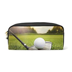 ALAZA Hipster Golf Ball in Grass PU Leather Pen Pencil Case