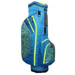 Hot-Z Ladies 2.5 Lace Cart Bag Blue/Lime