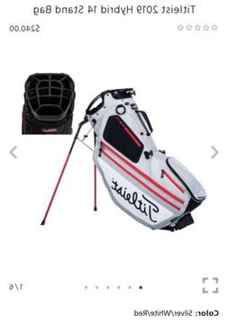 Titleist Hybrid 14 Stand Golf Bag 2019 NEW Silver White Red