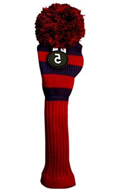 d7658041fec30 Majek  5 Hybrid Rescue Utility Red   Blue Golf Headcover Kni