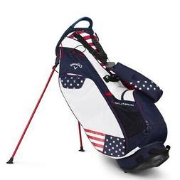 Callaway Hyper Lite 3 Stand Golf Bag USA  Navy/Red/White