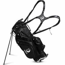 Hyper-Lite Golf Stand Cart Bag 6 Way Divider w/Shoulder Stra